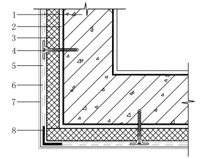 外墙阳角部位的增强处理示意图