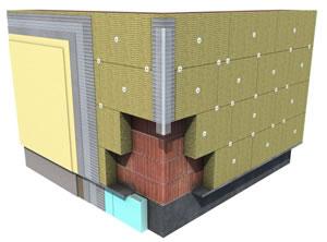 岩棉板外墙保温系统