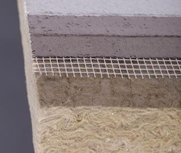 岩棉保温板铺设网格布